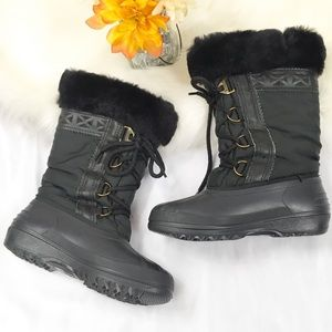 🎇 SOREL Black Winter Boots with Fur and Lined 5.5
